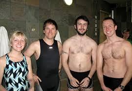 steve in a speedo gross lifetime fitness indoor triathlon
