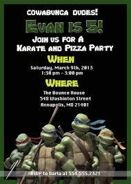 tmnt teenage mutant ninja turtles birthday party invitation