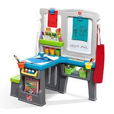 step 2 easel desk step2 great creations art center desk easel gb toys