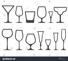 Types Of Wine Glasses And Their Uses About Glass Set Empty Different Shapes Wine Glasses Stock Vector 547472464