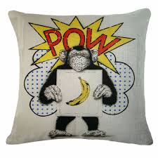 online shop pop art banana and monkey decorative cushion cotton