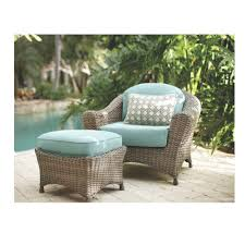 Home Depot Charlottetown Patio Furniture by Martha Stewart Living Wicker Patio Furniture Blue Patio