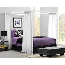 Canopy Bedroom Sets For Girls Modern Canopy Queen Metal Bed Multiple Colors Walmart Com