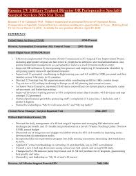 Nurse Manager Resume Examples by Resume Cv Military Trained Director Of Perioperative Specialty Surgic U2026