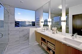 Countertop Cabinet Bathroom 15 Examples Of Bathroom Vanities That Have Open Shelving