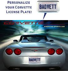 corvette vanity plates c6 corvette personalized license plate poster chevymall