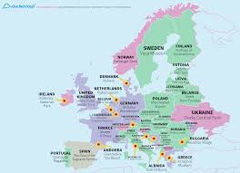 Europe On World Map by World Map Reveals The Top Tourist Attraction Of Every Country