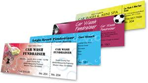 car wash tickets best ticket printing