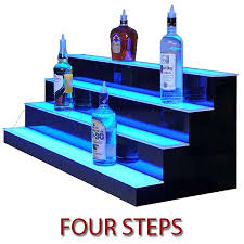 led lighted bar shelves led lighted bar shelf four steps liquor display shelving bar