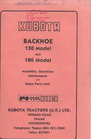 kubota backhoe identification help required please