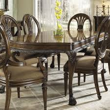 nine piece formal dining set with two arm chairs and six side