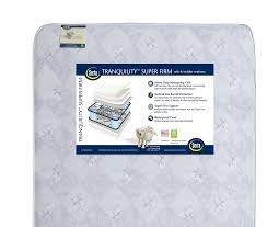 Crib And Mattress by Serta Tranquility Super Firm Crib And Toddler Mattress