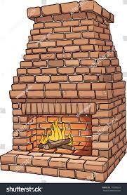 cartoon brick fireplace vector clip art stock vector 178208663