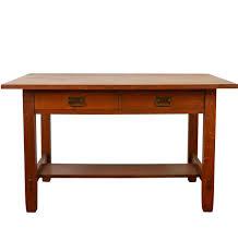 Polished Oak Desk Wooden U0026 Metal Dining Tables Rejuvenation