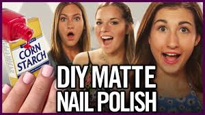 diy matte nail polish using corn starch makeup mythbusters ft