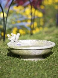ceramic bird bath bowl
