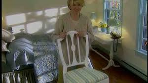 how to reupholster a dining room chair video how to recover a seat cushion martha stewart
