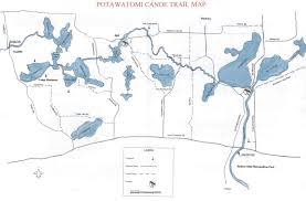 Map Of Michigan Lakes Midwest Scouting Potawatomi Canoe Trail
