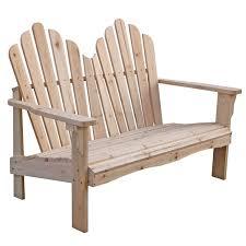 Outdoor Adirondack Chairs Cedar Wood Outdoor Patio 2 Seat Adirondack Chair Style Loveseat