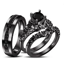 black weddings rings images Wedding rings creative black wedding ring sets 2018 collection jpg