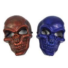 Skull Mask Halloween Kids Plastic Skull Mask Halloween Scary Fancy Dress Mask Ebay