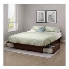 full queen size royal cherry wooden platform bed frame under bed