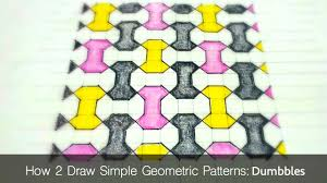 pattern grading easy how to draw simple geometric patterns dumbbell tiling youtube