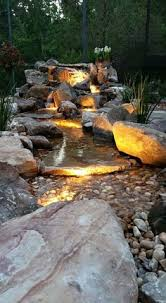 Waterfall In Backyard Pondlesswaterfall Exterior Inspirations Pinterest Water