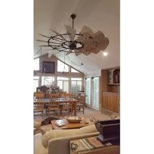 outdoor windmill ceiling fan quorum international 197215 weathered oak bronze metal 72 inch 15