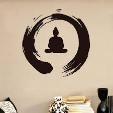 compare prices on work sticker online shopping buy low price work dctop zen circle with buddha wall stickers home decor vinyl removable adhesive art works wall waterproof