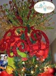 monogram tree topper christmas tree topper your monogram by sccutitoutdesigns on etsy