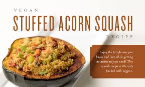 vegan stuffed acorn squash living