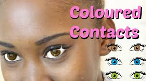 coloured contact lenses halloween first time trying coloured contact lenses youtube