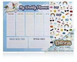 Weekly Desk Pad Npw Weekly Calendar Planner Desk Pad Desktop Planner Unicorn Ebay