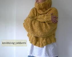 Knitted Chandelier Earrings Pattern Knit Sweater Pattern Etsy