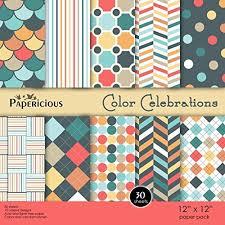 papericious designer u201ccolor celebrations u201d 12x12 craft paper