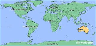 austrelia map where is australia where is australia located in the world