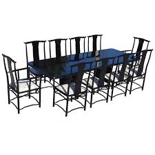 stunning black lacquer dining room set photos house design