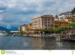 bellagio on lake como italy june 15 2014 view on coast line of
