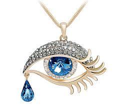 photo necklace pendants images Wiipu teardrop turkish evil eye pendant angel 39 s tears jpg