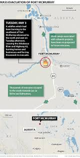 Where Is Fort Mcmurray On A Map Of Canada Fort Mcmurray Wildfire Prompts Oilsands Operators To Cut