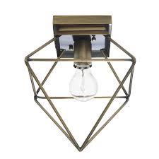 gold flush mount light shop allen roth palmsley 11 91 in w soft gold flush mount light at