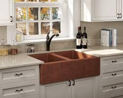 copper apron front sink 912 double equal bowl copper apron sink