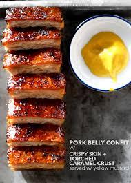 creme brulee d pork belly confit pork pork belly and char siu