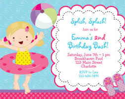 pool party birthday invitation pool party pool toys
