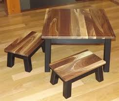 childrens table and stools gorgeous reclaimed wood kids table and chair set for the children