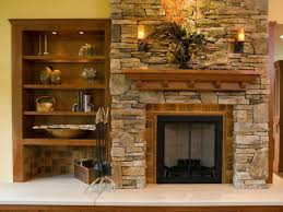 bookcase wallpaper next stone fireplace with shelves stacked