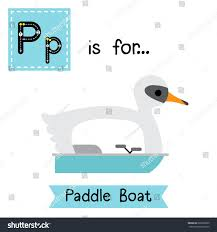 letter p cute children colorful transportations stock vector