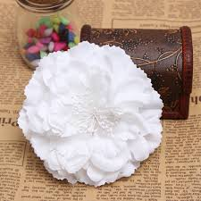 hair corsage fabric peony flower hair corsage brooch bridal headpieces at