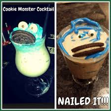 cookie monster cocktail fail nailed it know your meme